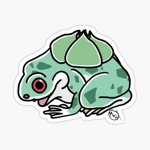 Grass-Type Frog Flash Tattoo Sticker