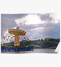 Merry Go Round By Lake Poster