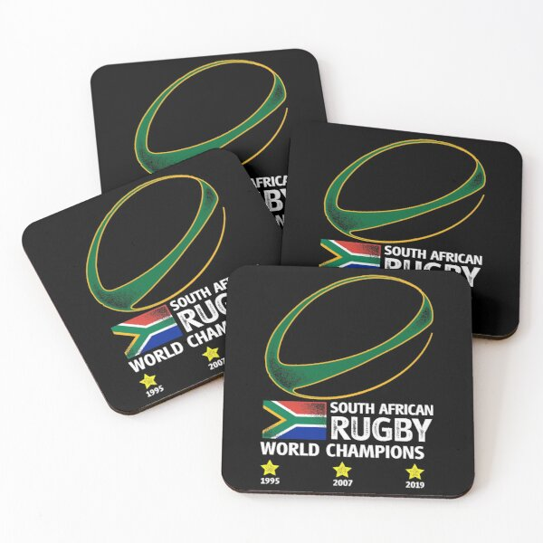 South Africa Rugby Bokke Coasters (Set of 4)