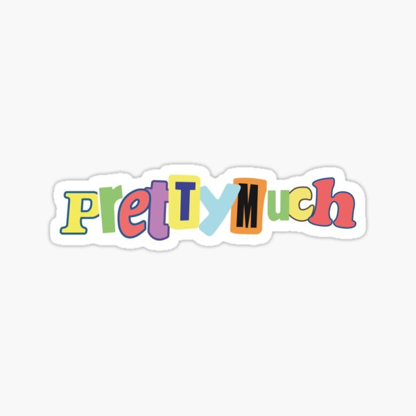 PRETTYMUCH RAINBOW  Sticker