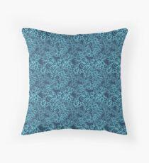Blue Flower Doodle Floor Pillow
