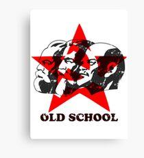 MARX ENGELS LENIN - OLD SCHOOL Canvas Print
