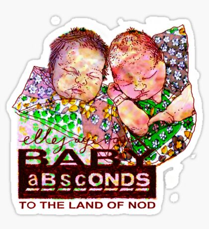BABY aBscONDS: Indy & Sky Sticker