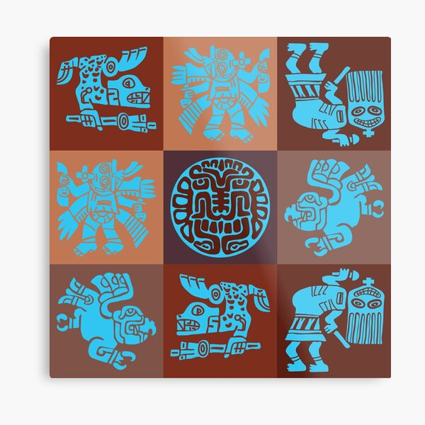 Inca Warriors Dance Metal Print