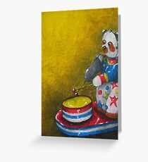 Wind up Panda toy Greeting Card