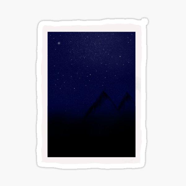 Starry Mountain Sticker Sticker