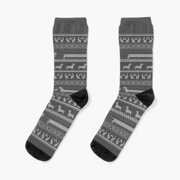 Ugly Christmas sweater dog edition - Dachshund Socks