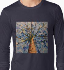 Blue Canopy Acrylic on canvas Long Sleeve T-Shirt