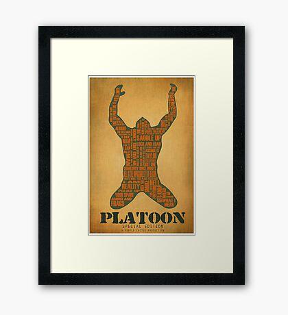 Platoon redux Framed Print