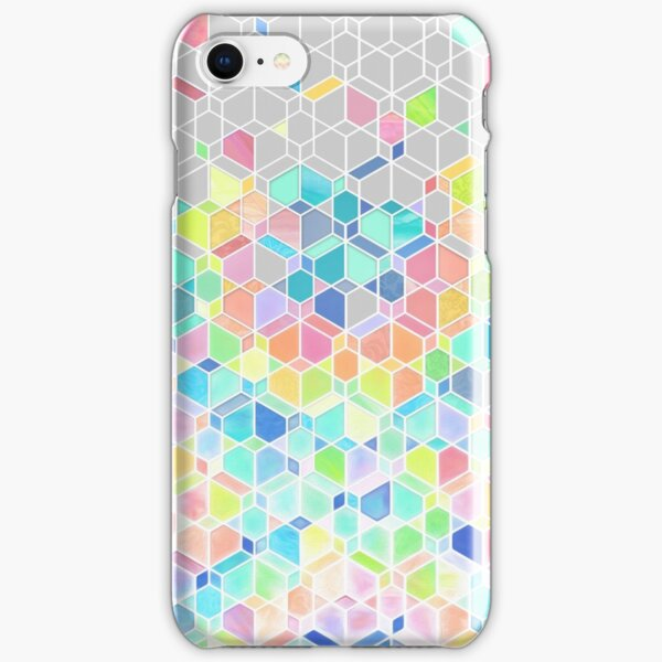 Rainbow Cubes & Diamonds iPhone Snap Case