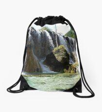 Sunny Cascade Drawstring Bag