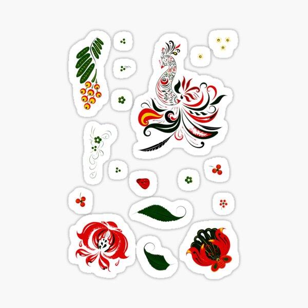 Folk style sticker-Set Sticker