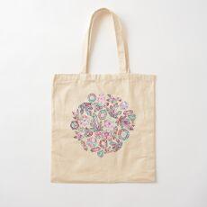 Kaleidoscope Crystals  Cotton Tote Bag