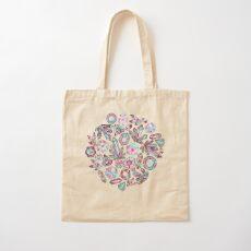 Kaleidoscope Crystals - Grey  Cotton Tote Bag
