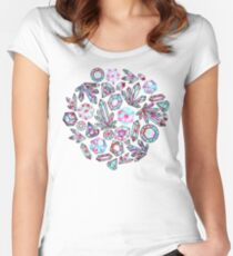 Kaleidoscope Crystals - Grey  Fitted Scoop T-Shirt