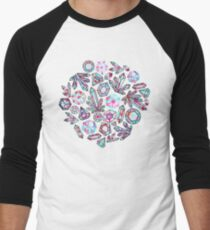 Kaleidoscope Crystals - Grey  Baseball ¾ Sleeve T-Shirt