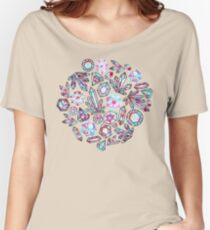 Kaleidoscope Crystals - Grey  Relaxed Fit T-Shirt