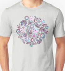 Kaleidoscope Crystals - Grey  Slim Fit T-Shirt