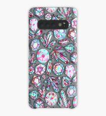 Kaleidoscope Crystals - Grey  Case/Skin for Samsung Galaxy