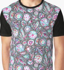 Kaleidoscope Crystals - Grey  Graphic T-Shirt