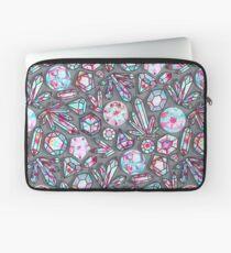 Kaleidoscope Crystals - Grey  Laptop Sleeve