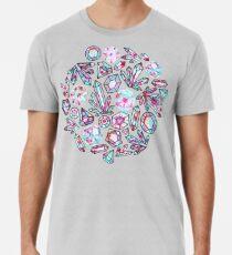 Kaleidoscope Crystals - Grey  Premium T-Shirt