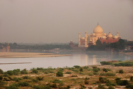 Taj Mahal from Agra Fort by Christopher Cullen