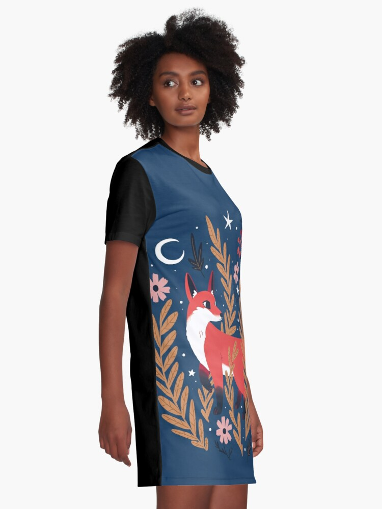 Alternate view of First snow Graphic T-Shirt Dress