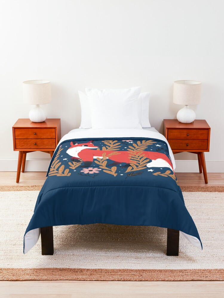 Alternate view of First snow Comforter