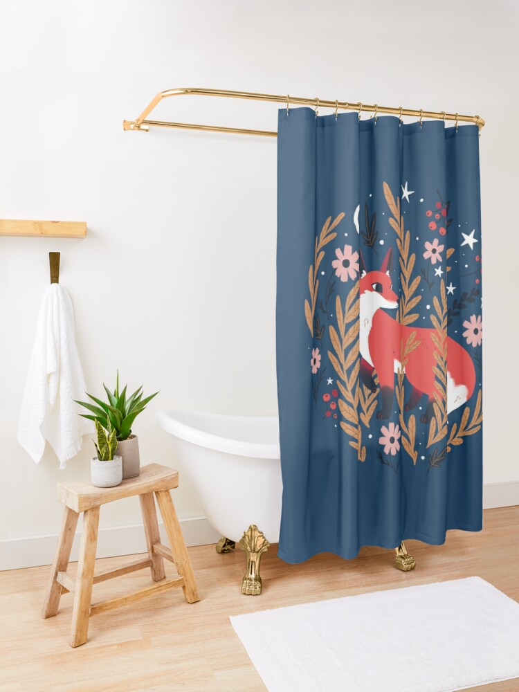 Alternate view of First snow Shower Curtain