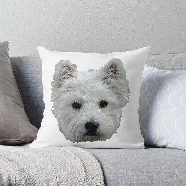 WESTIE FACE Throw Pillow