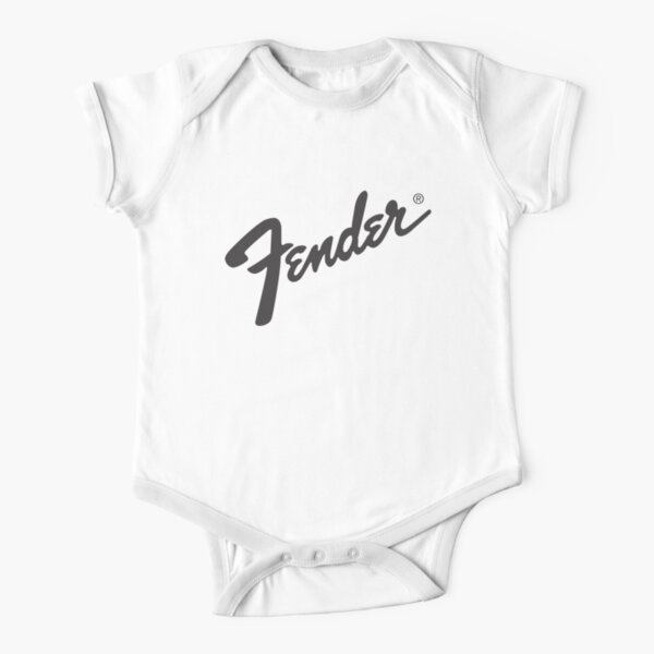merch from the fender legend guitar Short Sleeve Baby One-Piece
