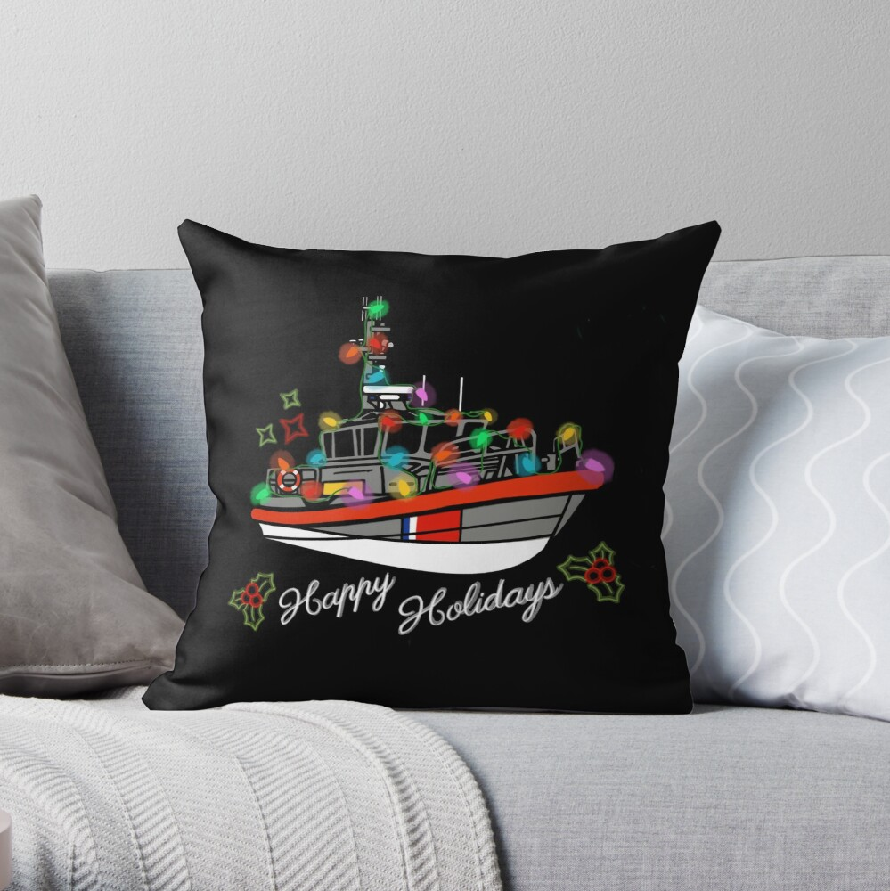Coast Guard Lighted Boat Parade 45 RB-M Throw Pillow