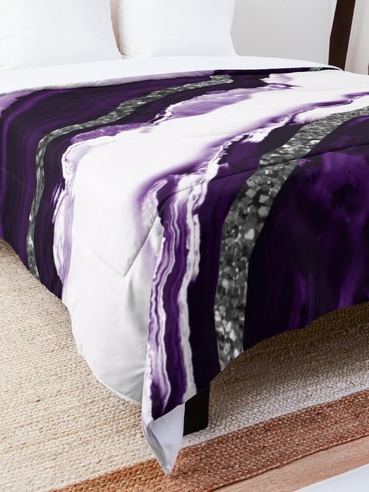 Alternate view of Agate Glitter Glam #12 #gem #decor #art Comforter