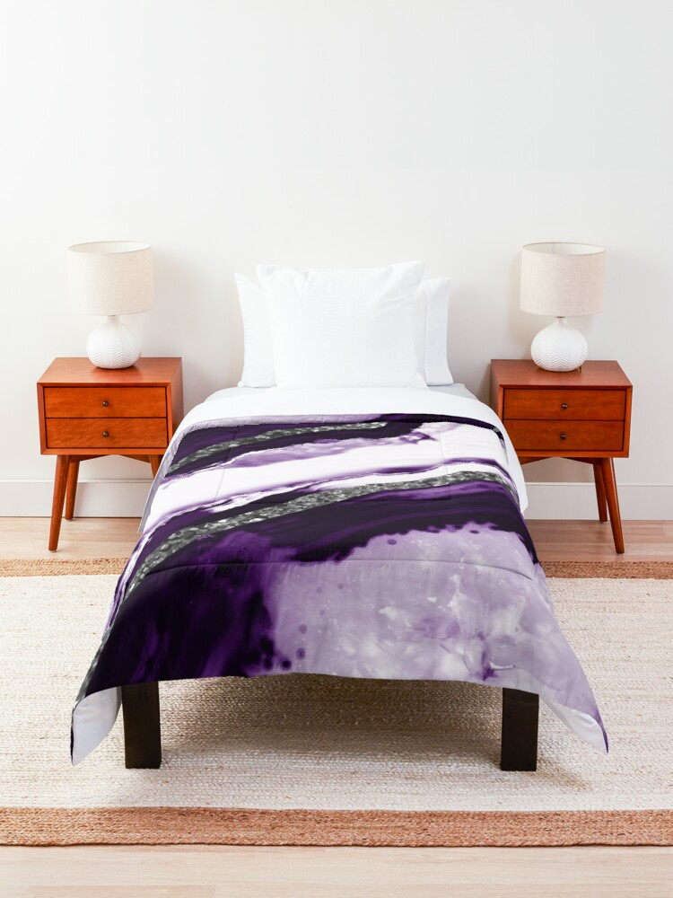 Alternate view of Agate Glitter Glam #12 #gem #decor #art Comforter