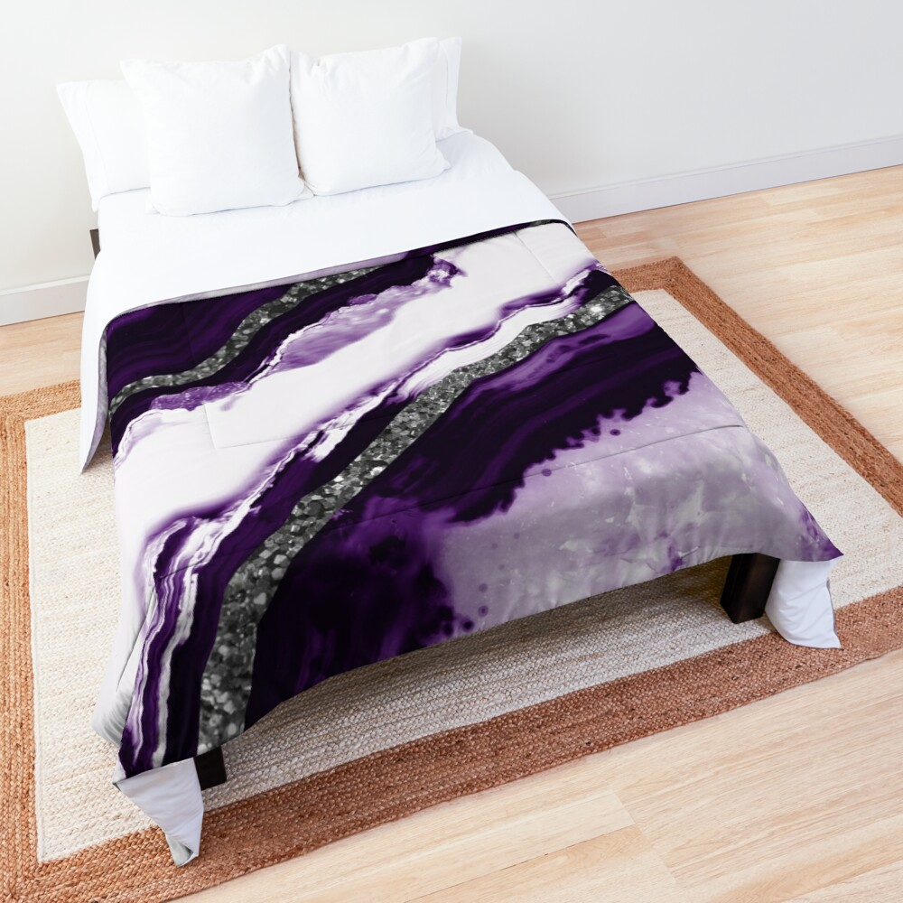Agate Glitter Glam #12 #gem #decor #art Comforter