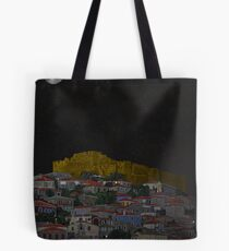 Molyvos II Lesvos Greece Moonlight Tote Bag