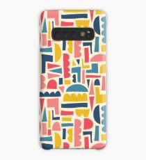 Kids Shapes Collage Blue Pink Yellow Case/Skin for Samsung Galaxy