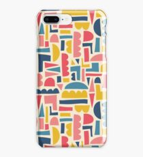 Kids Shapes Collage Blue Pink Yellow iPhone Case