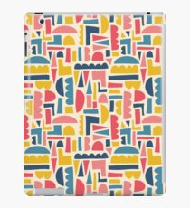 Kids Shapes Collage Blue Pink Yellow iPad Case/Skin