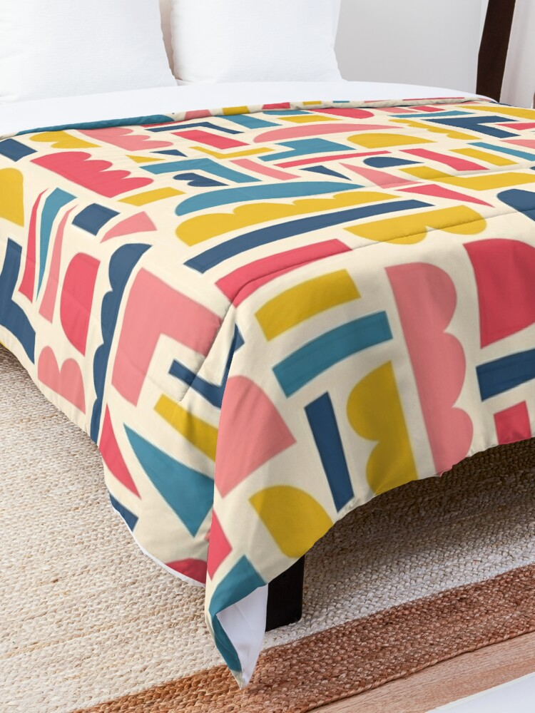 Alternate view of Kids Shapes Collage Blue Pink Yellow Comforter