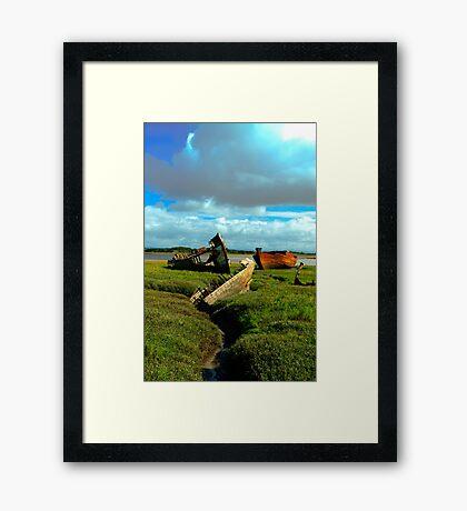 Group of Wrecks Framed Print