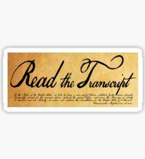 Read The Preamble Sticker