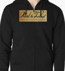 Read The Preamble Zipped Hoodie