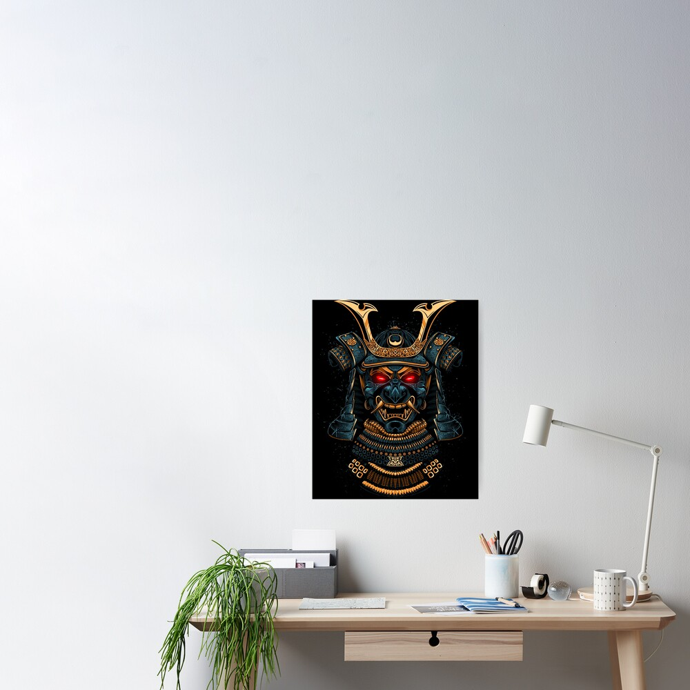 Awesome Samurai Gold Poster