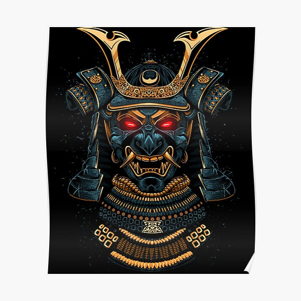 Awesome Samurai Gold Póster