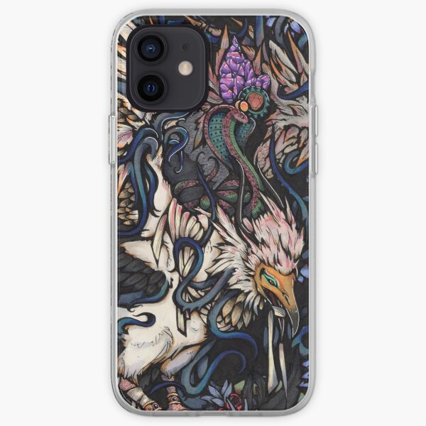 Egyptian Vulture with Lotus Flowers iPhone Soft Case