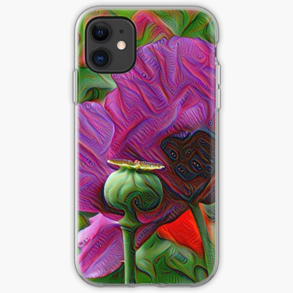 DeepDream Flowers, Poppies 001 iPhone Soft Case