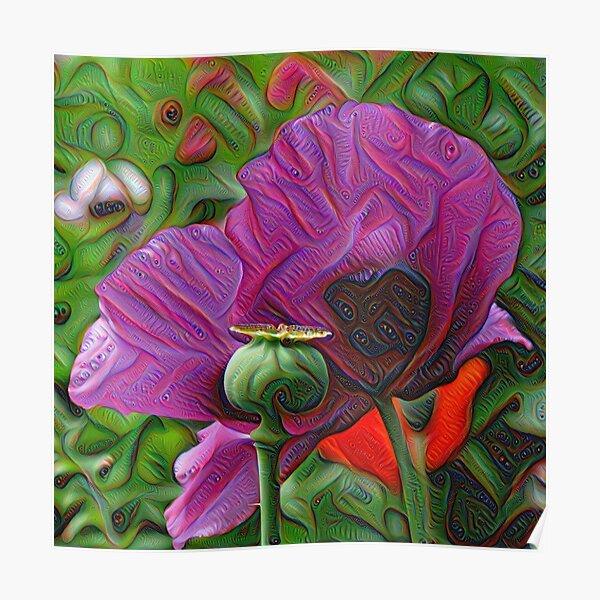 DeepDream Flowers, Poppies 001 Poster
