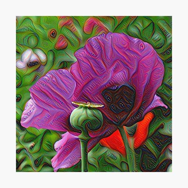 DeepDream Flowers, Poppies 001 Photographic Print